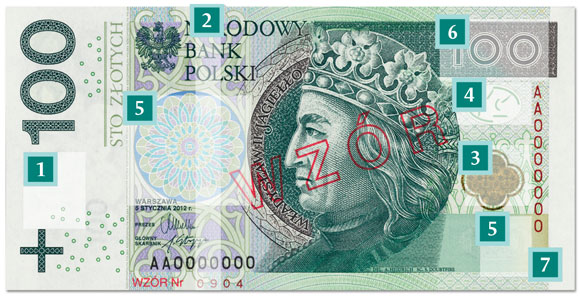 nowy banknot 100 zł - awers
