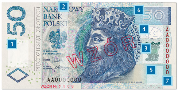 nowy banknot 50 zł - awers